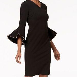 Calvin Klein Beaded Bell Sleeve Dress, 2